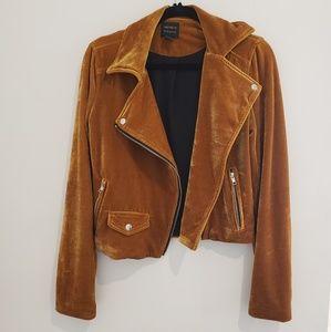 5 for the 30!! Forever 21 Velvet Biker Moto Jacket